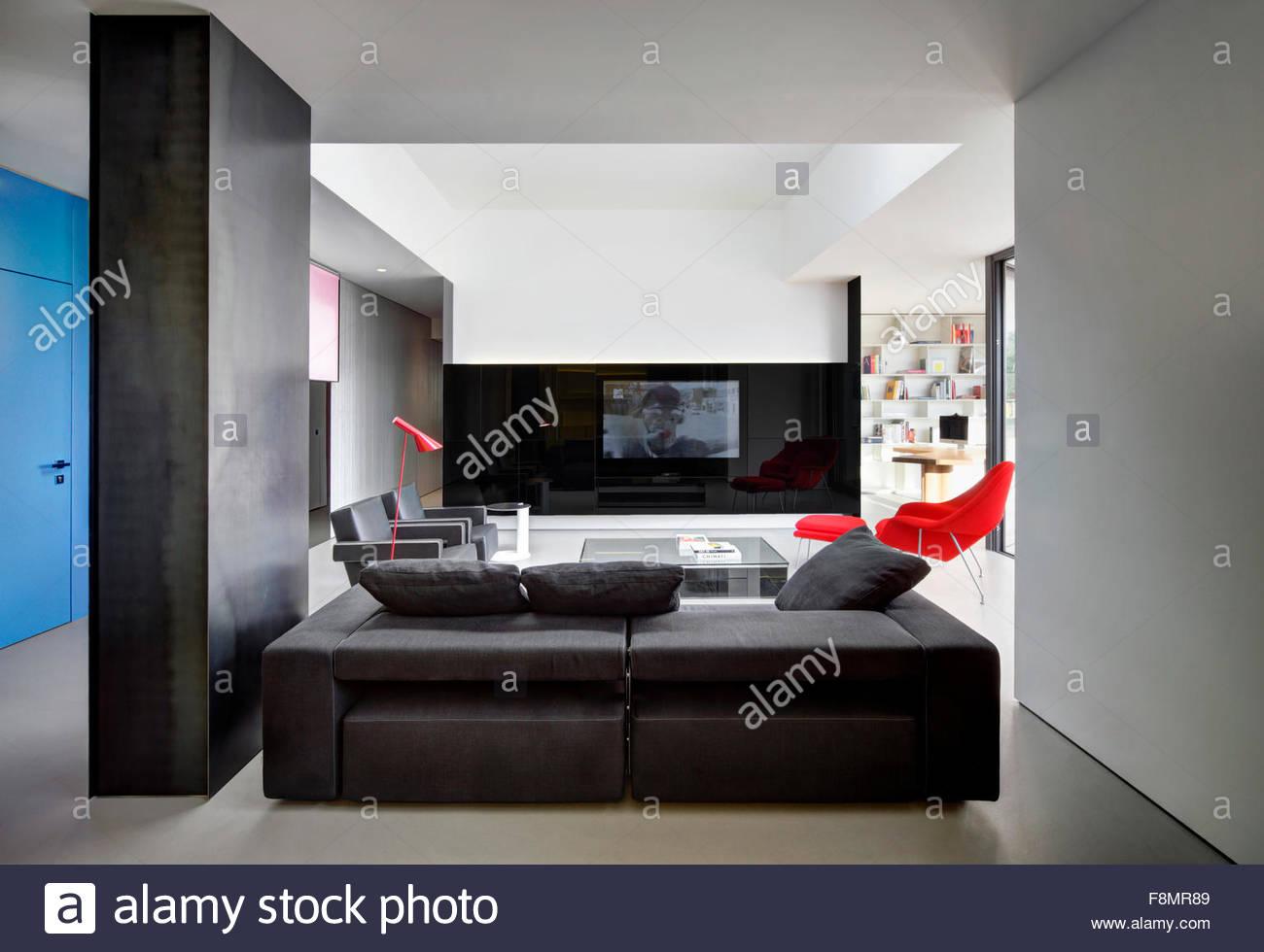 modernes interieur design farben, wohnung, nervi. innenansicht eines wohnzimmers in einer modernen, Design ideen