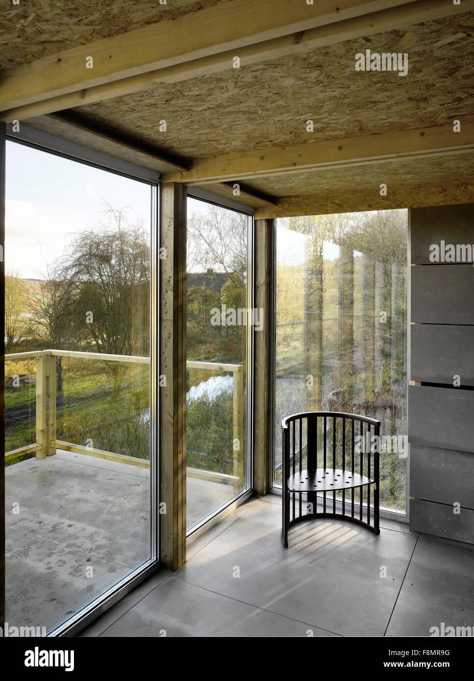 Hutte West Yorkshire Innenansicht Eines Raumes Mit Beton Und Holz