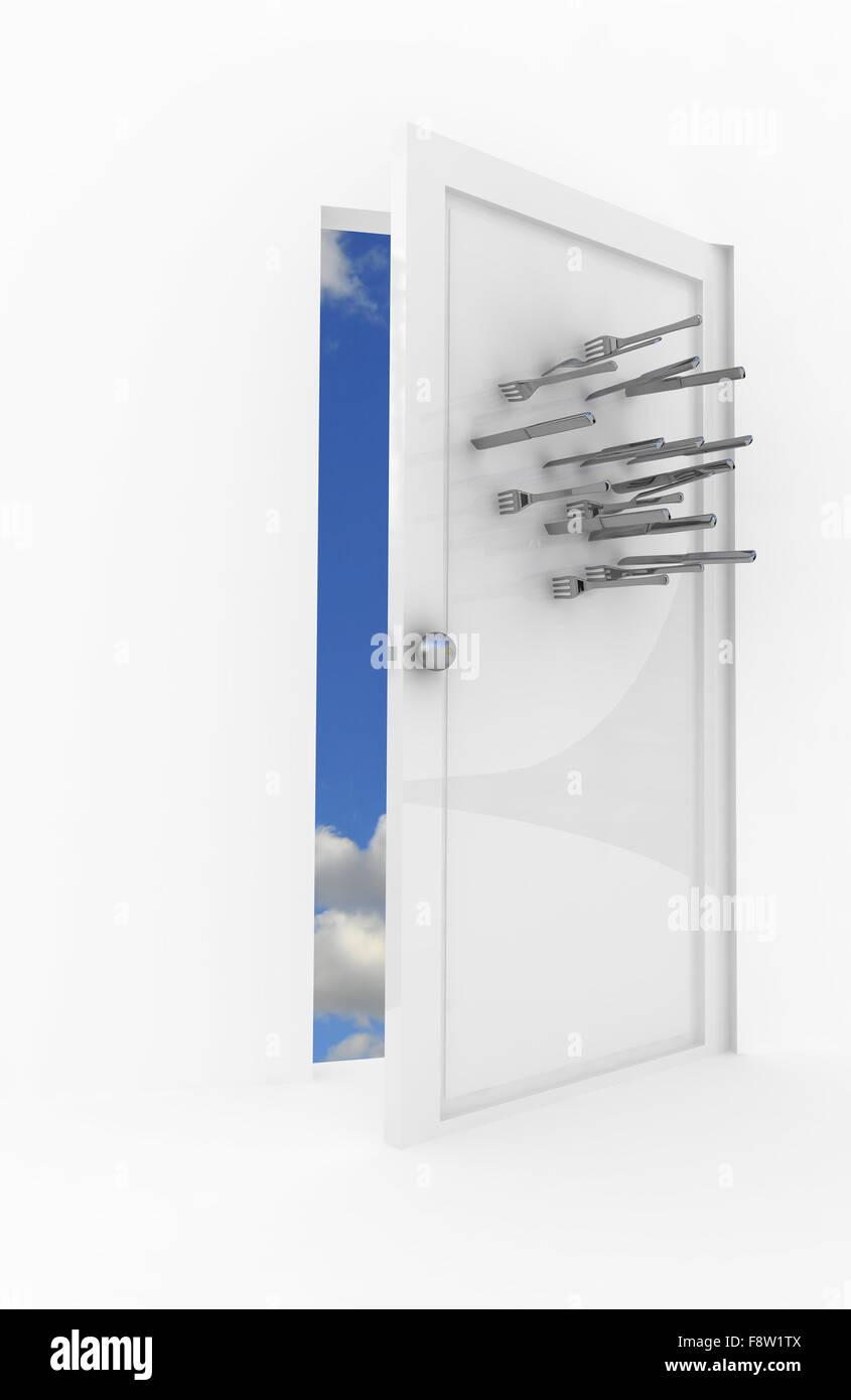 Silber veapon Stockbild
