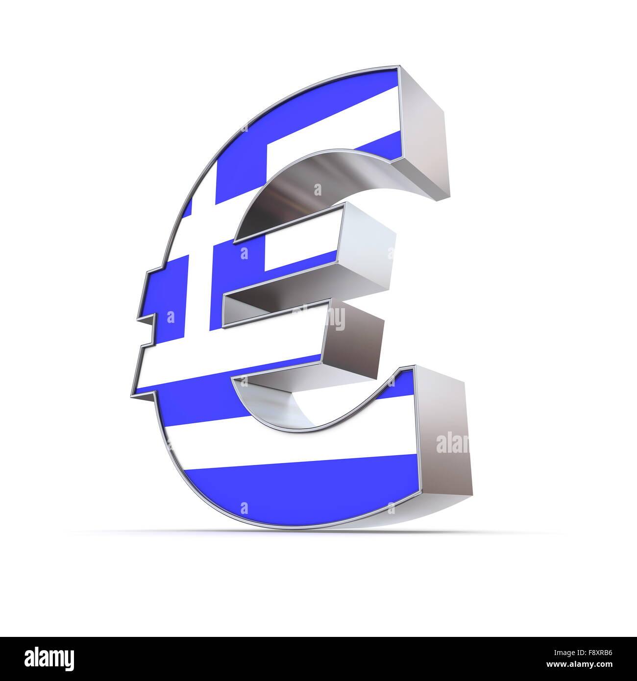 Glnzende Eurozeichen  strukturierte Front  Flagge von