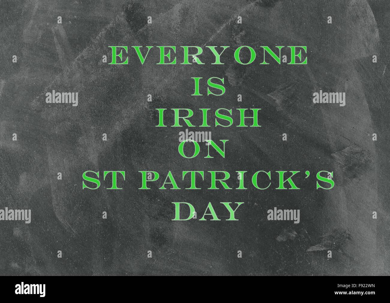 Typografische Gestaltung für St. Patricks Day Stockfoto