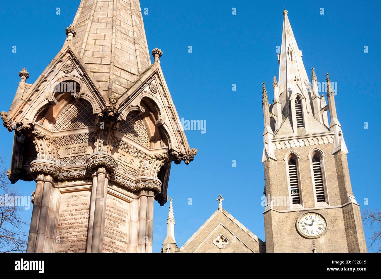St. Johannes-Kirche, Broadway, Stratford, Newham Borough, Greater London, England, Vereinigtes Königreich Stockfoto