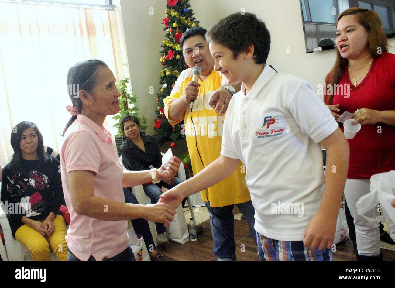 Fiesta Pinoy Restaurantbesitzer Houssam Abdul Malak und seinem Sohn ...