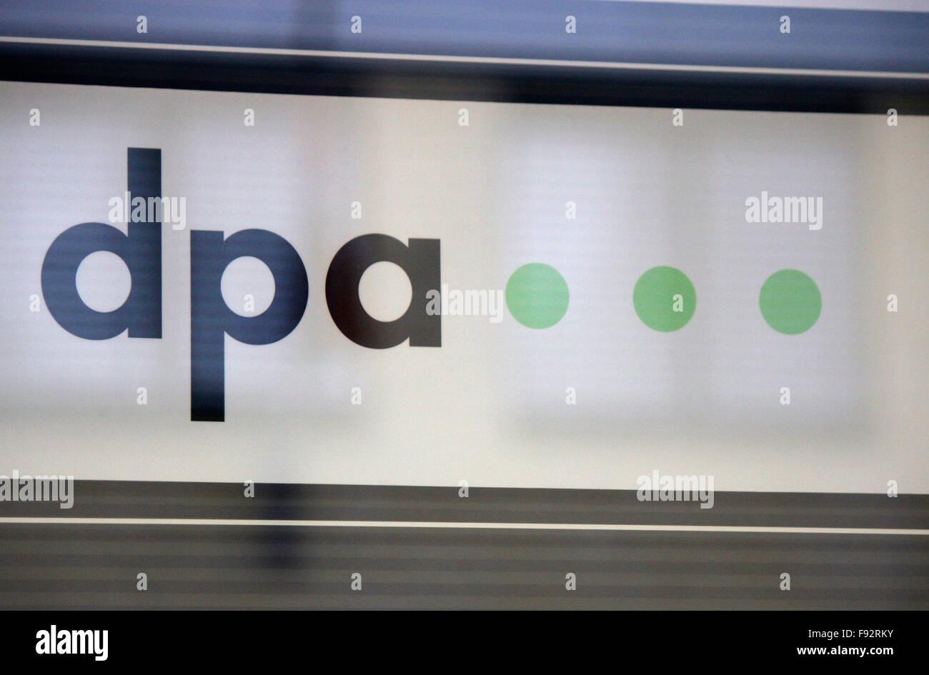 """Markenname: """"DPA Deutsche Presse Agentur"""", Berlin. Stockbild"""