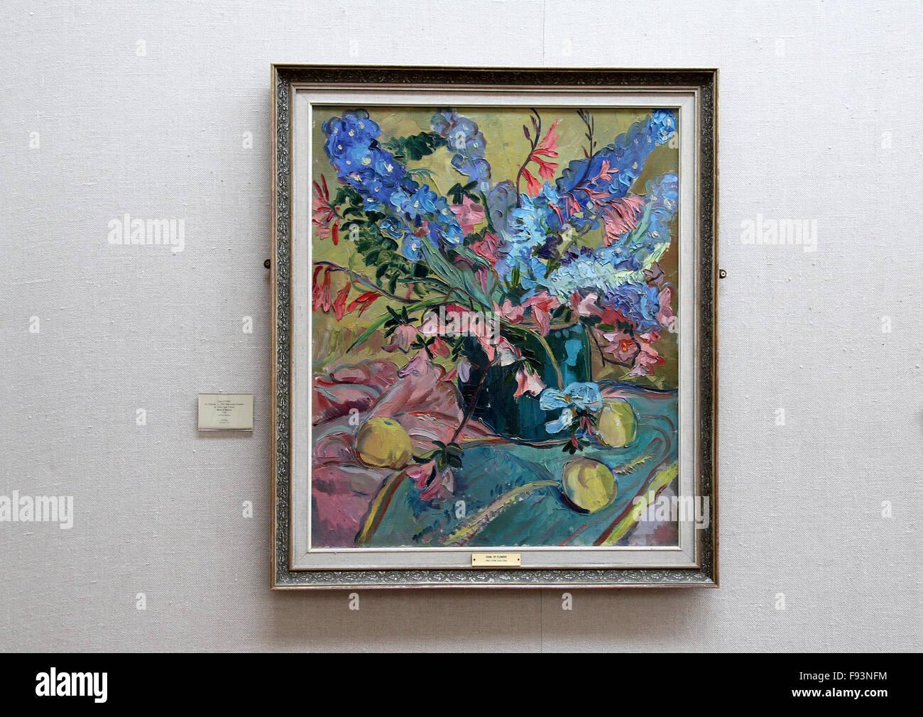 Schale mit Blumen von Irma Stern Stockbild