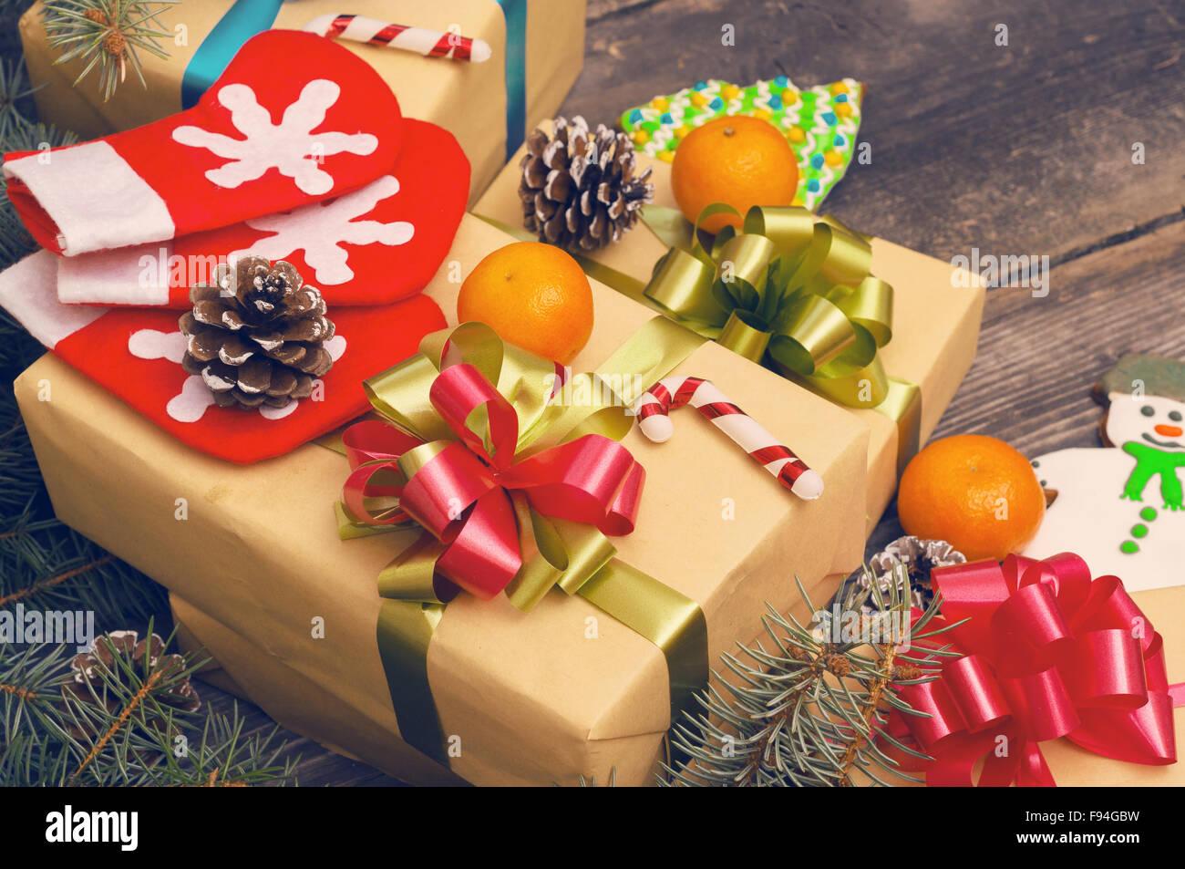 Weihnachten-Vintage-Hintergründe Stockbild