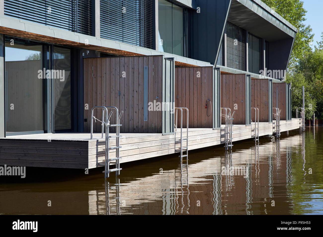Wohnsiedlung am Neusiedler See, am Neusiedl See, Burgenland ...