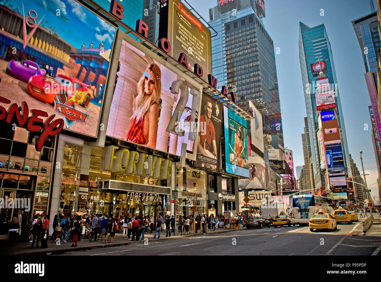 Times Square in New York Stockbild