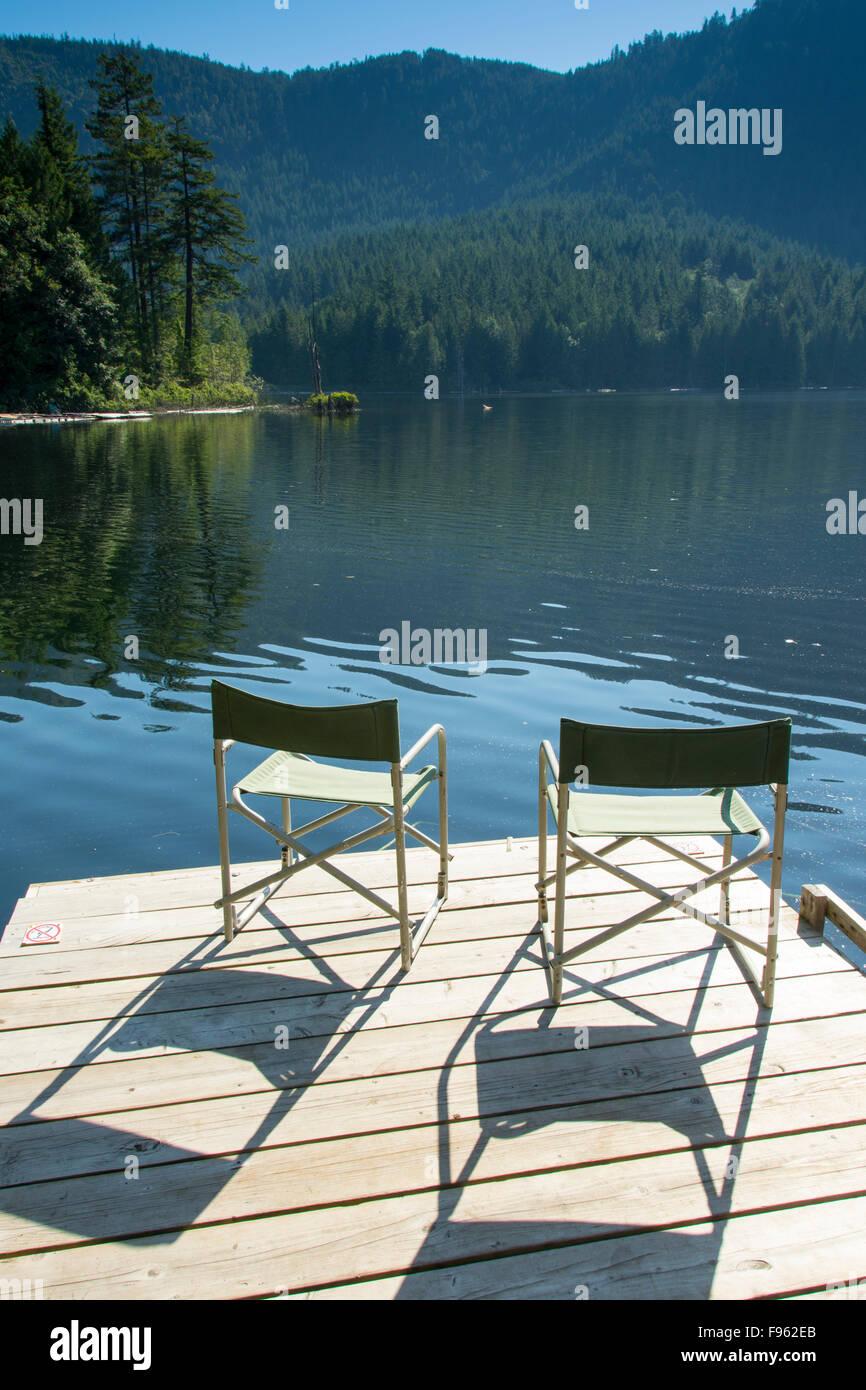 Kleinsee in der Nähe von Egmont, Sunshine Coast, Britisch-Kolumbien, CanadaBritish-Kolumbien, Kanada Stockbild