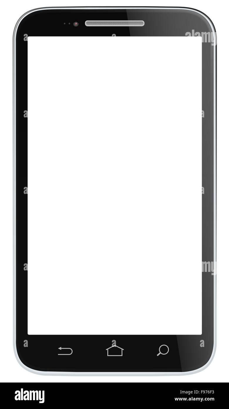 Nicht der Marke classic Black Smartphone. Vektor EPS 10. Stockbild
