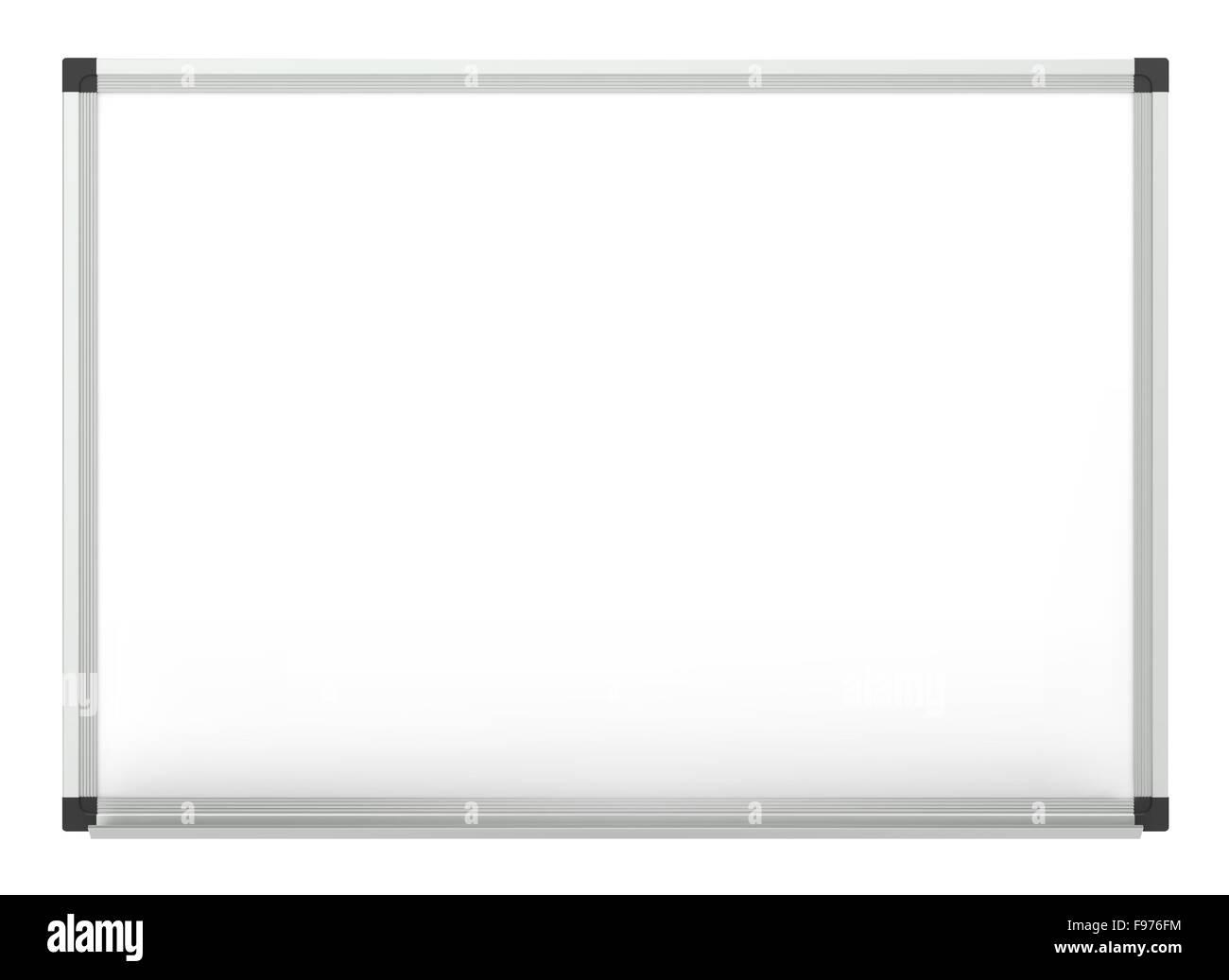 Klassische leeres Whiteboard für Textfreiraum. Vektor-EPS10. Stockbild