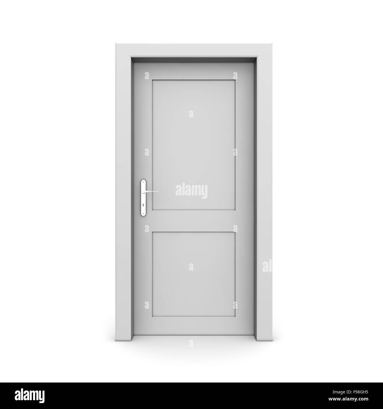 einzelne graue tür geschlossen stockfoto, bild: 91772385 - alamy