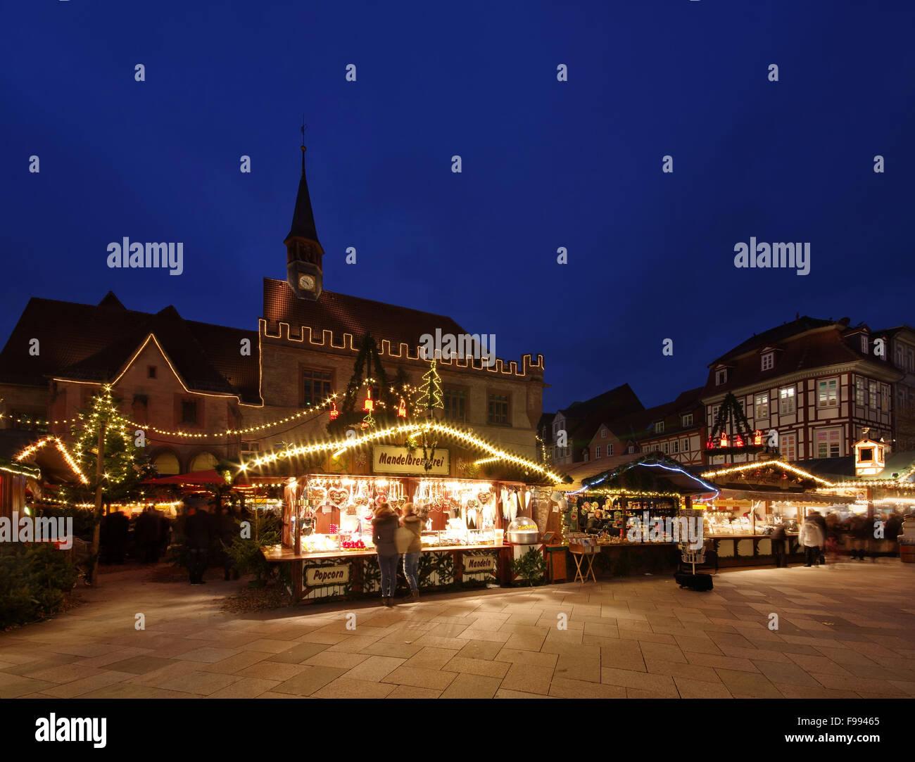 Weihnachtsmarkt Göttingen.Goettingen Weihnachtsmarkt Weihnachtsmarkt Göttingen 01 Stockfoto