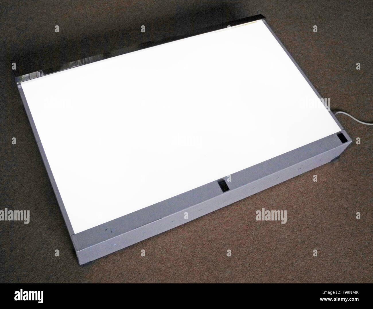 Lightbox anzeigen Röntgenstrahlen Transparenzen grafische Arbeiten Stockbild