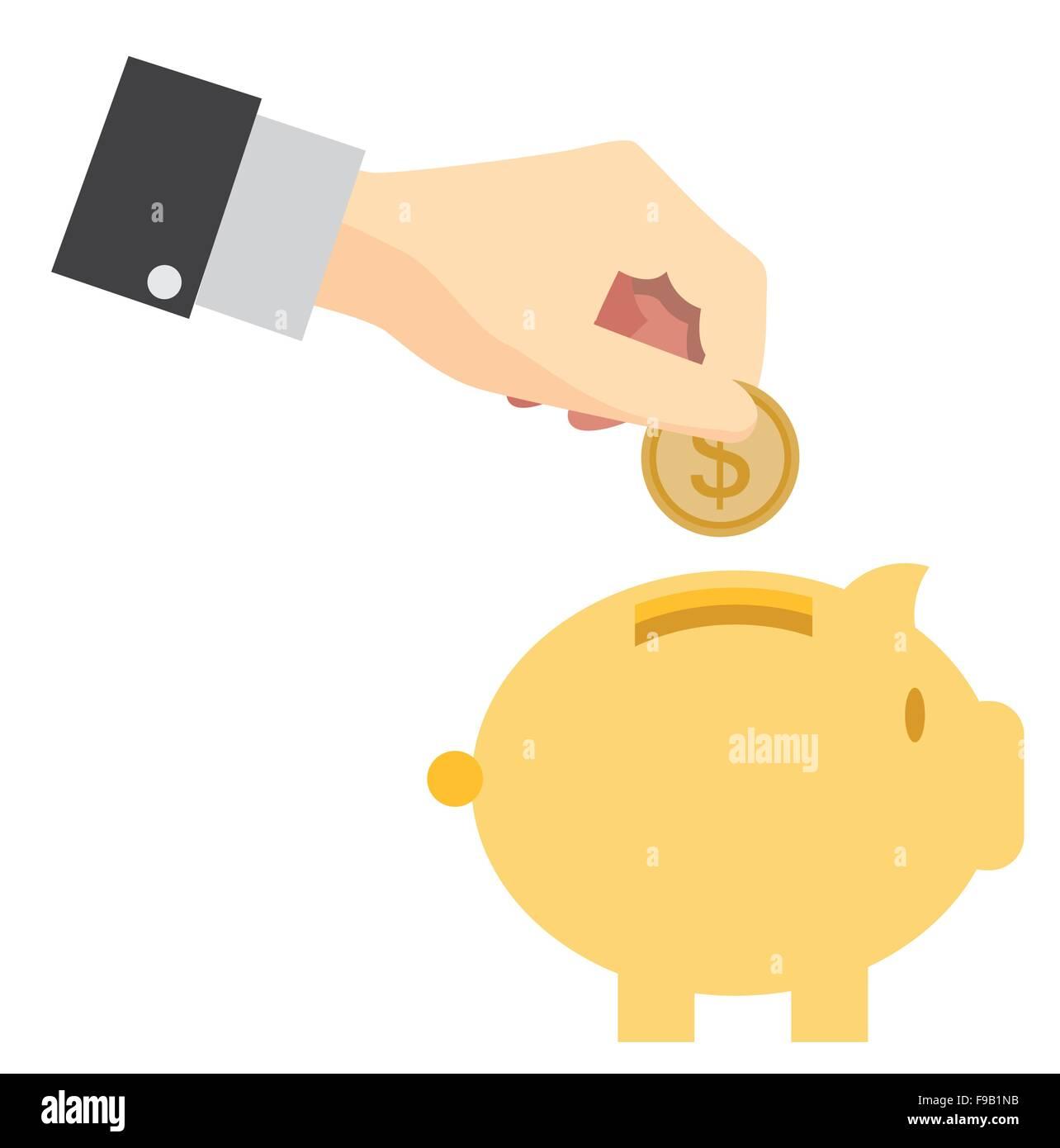 Piggy Bank Konzept Geld sparen Stockbild