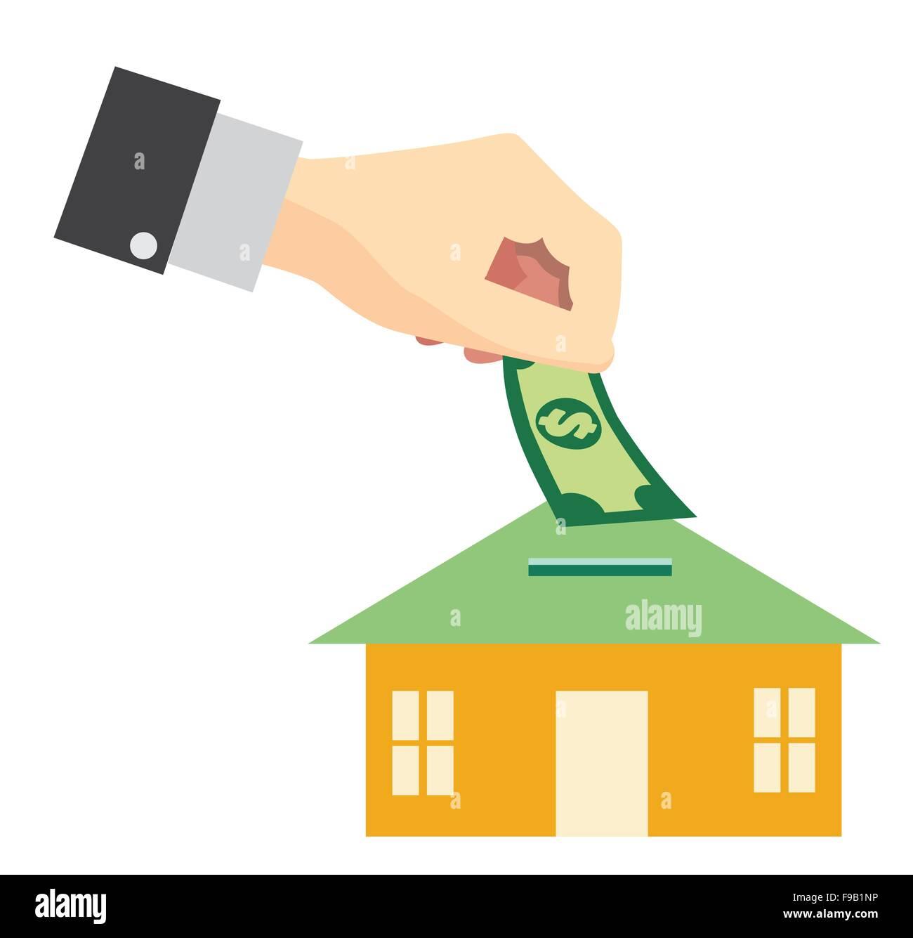 Geld sparen für kaufen Wohnkonzept Stockbild