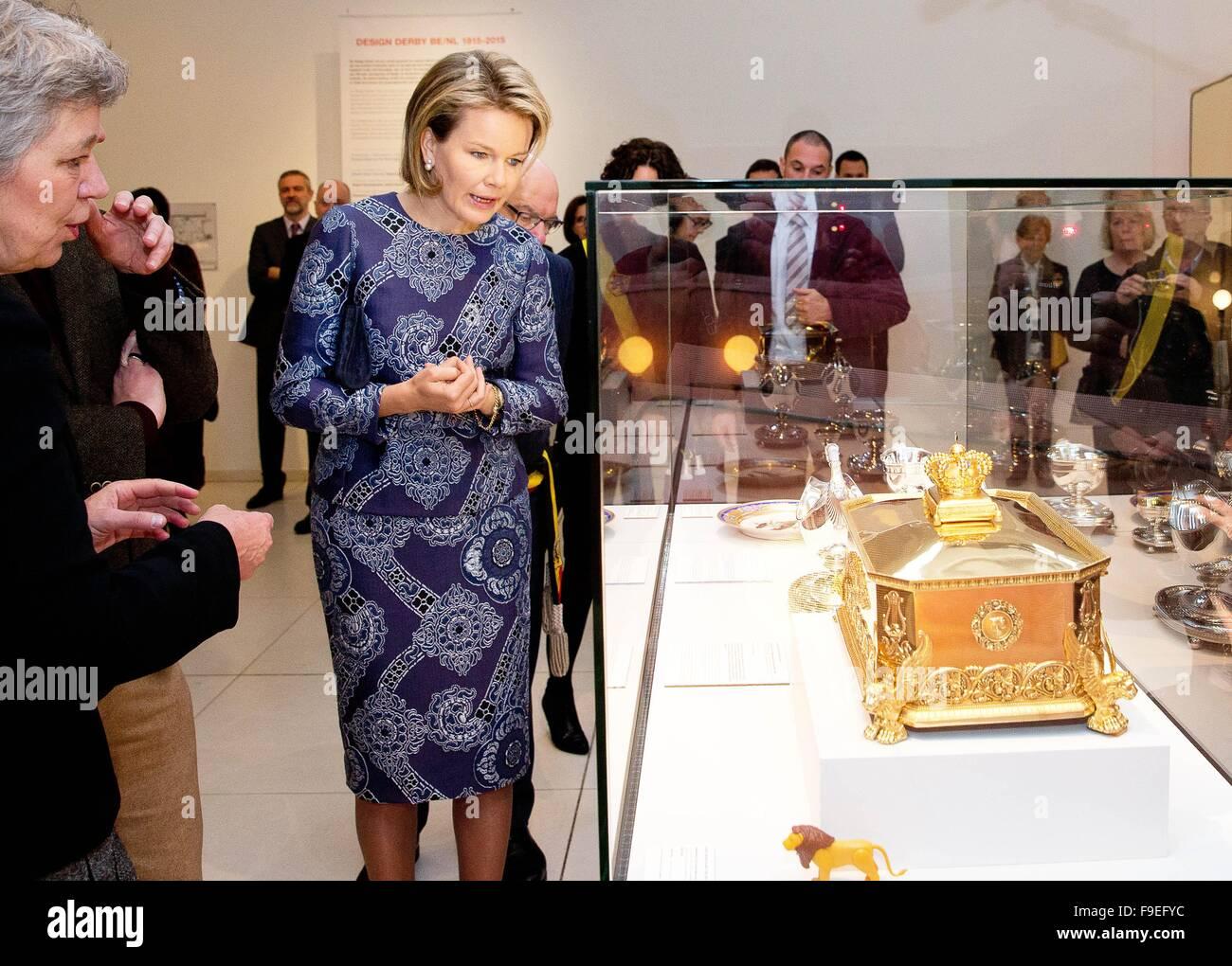 Gent, Belgien. 16. Dezember 2015. HM Königin Mathilde HM Queen ...