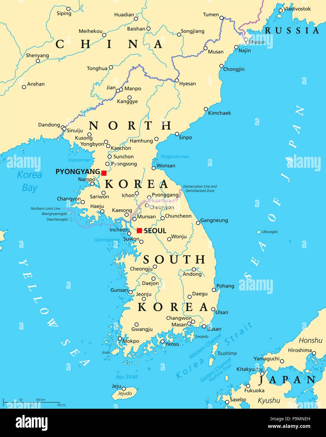 Koreanische Karte Stockfotos Koreanische Karte Bilder Alamy