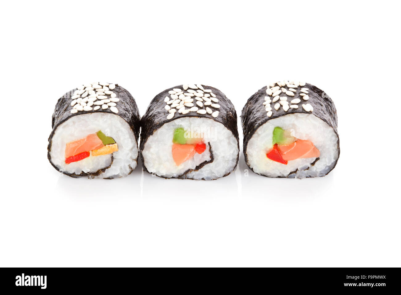 sushi rollen stockfoto bild 92083094 alamy. Black Bedroom Furniture Sets. Home Design Ideas
