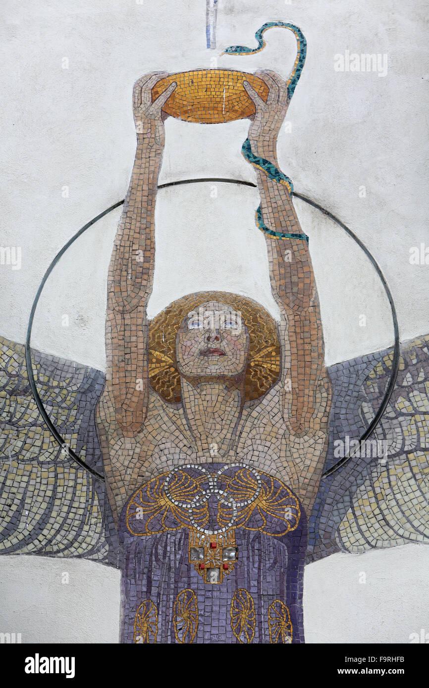 Engel-Apotheke von Gustav Klimt. Engel Apotheke Apotheke. Stockbild