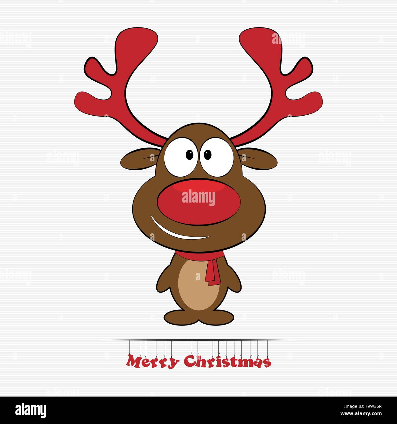 cartoon christmas reindeer character red stockfotos. Black Bedroom Furniture Sets. Home Design Ideas