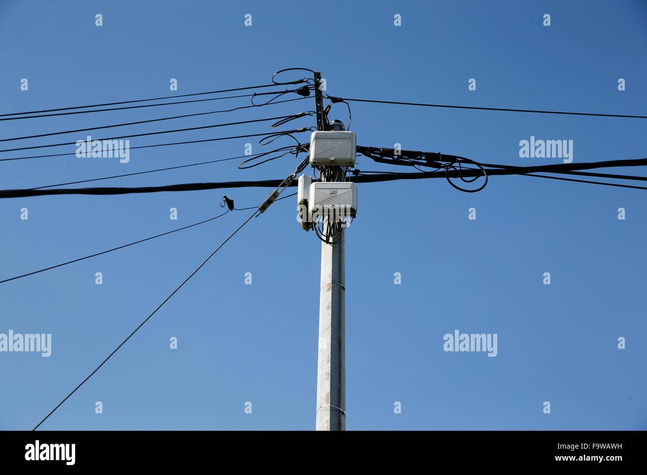 Elektrische Verdrahtung. Stockbild
