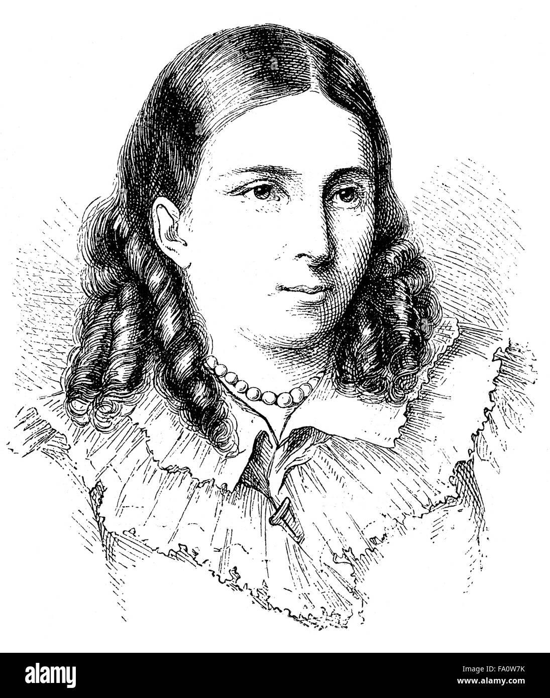 Bettina von Arnim, 1785-1859, deutscher Schriftsteller der deutschen Romantik Stockbild