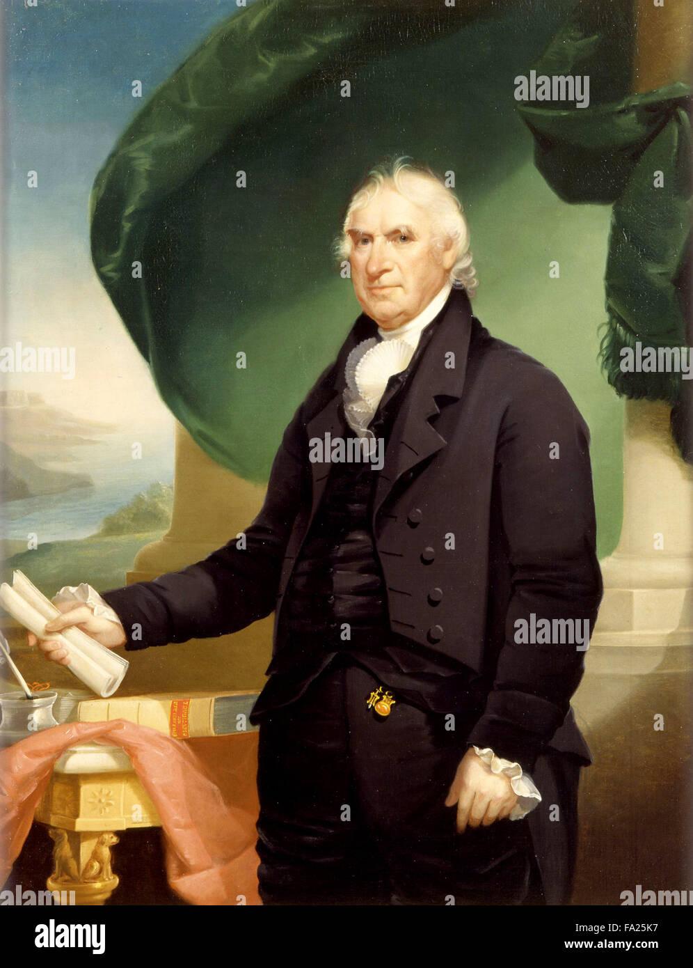 George Clinton, US-amerikanischer Soldat und Staatsmann, als einer der Gründerväter der Vereinigten Staaten Stockbild