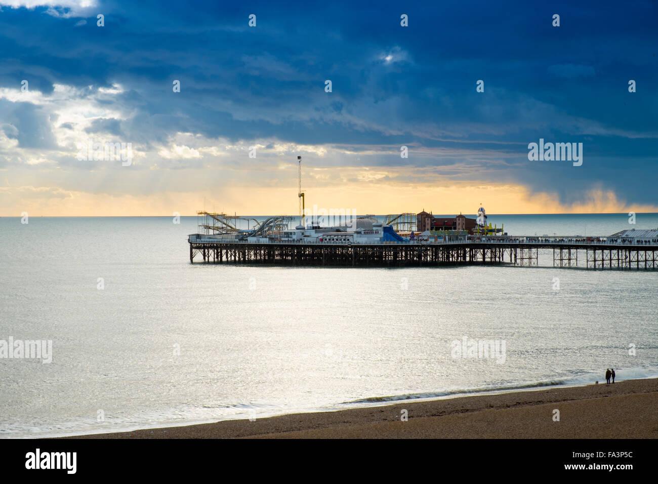 Brighton Pier Stockbild