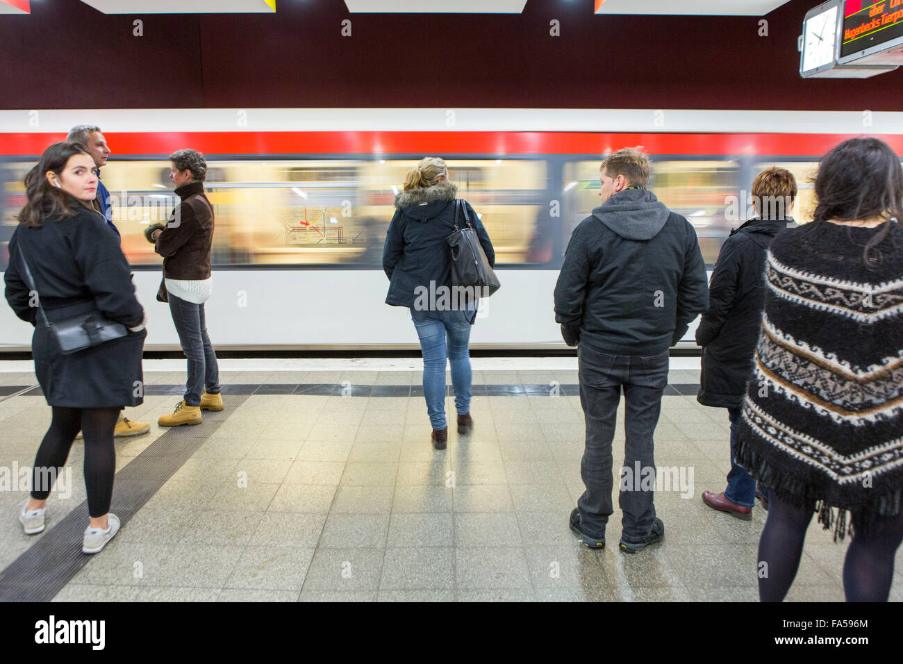 Hamburg-Deutschland.  Hamburg U-Bahnstation Stockbild