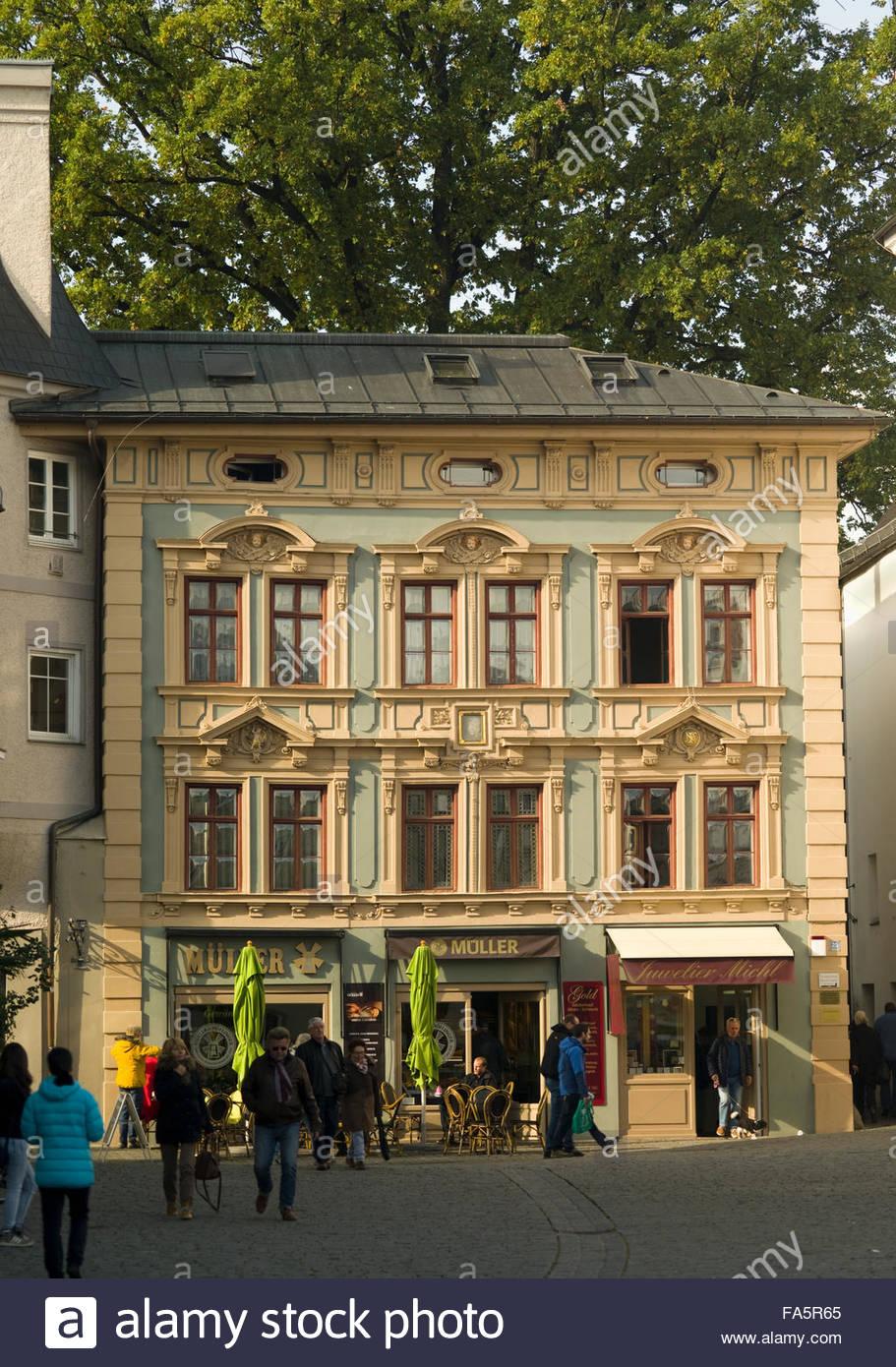 Architektur Rosenheim | Architektur Und Gebaude Rosenheim Deutschland Stockfoto Bild