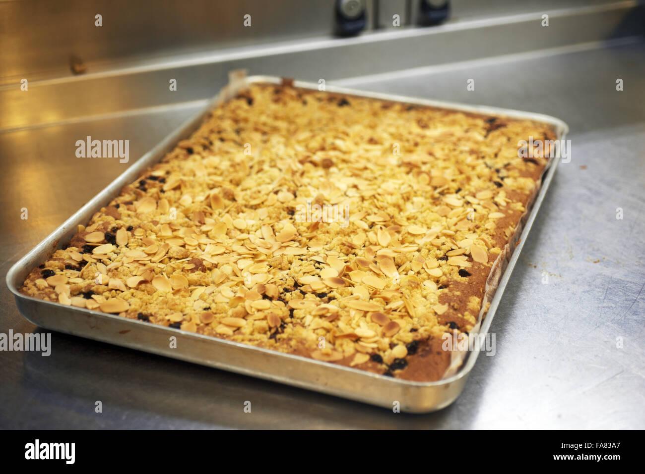 Essenz des Weihnachten Traybake, frisch aus dem Ofen. Stockbild