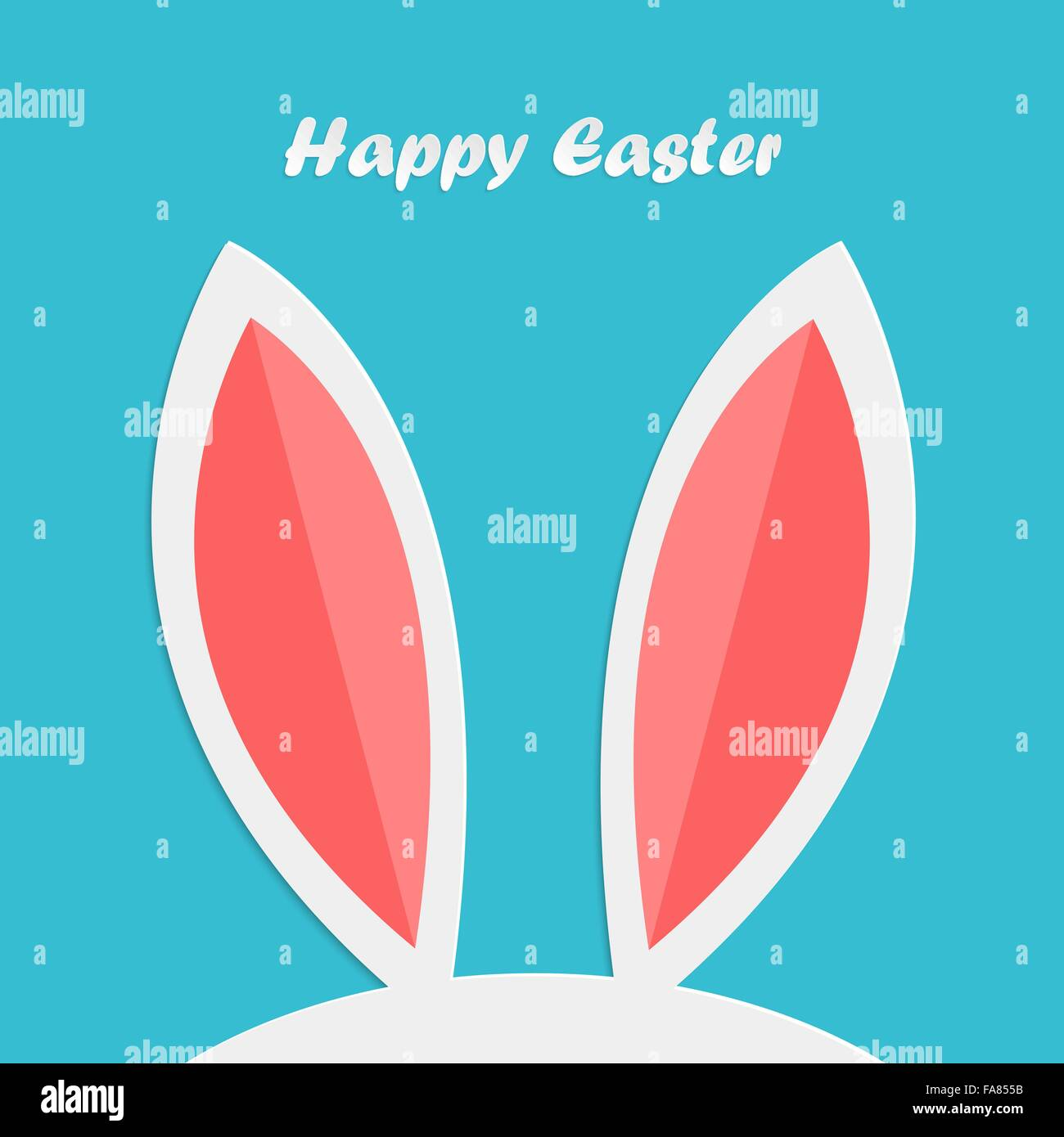 Abstrakte Ostern Hasenohren für Ihr design Stockbild