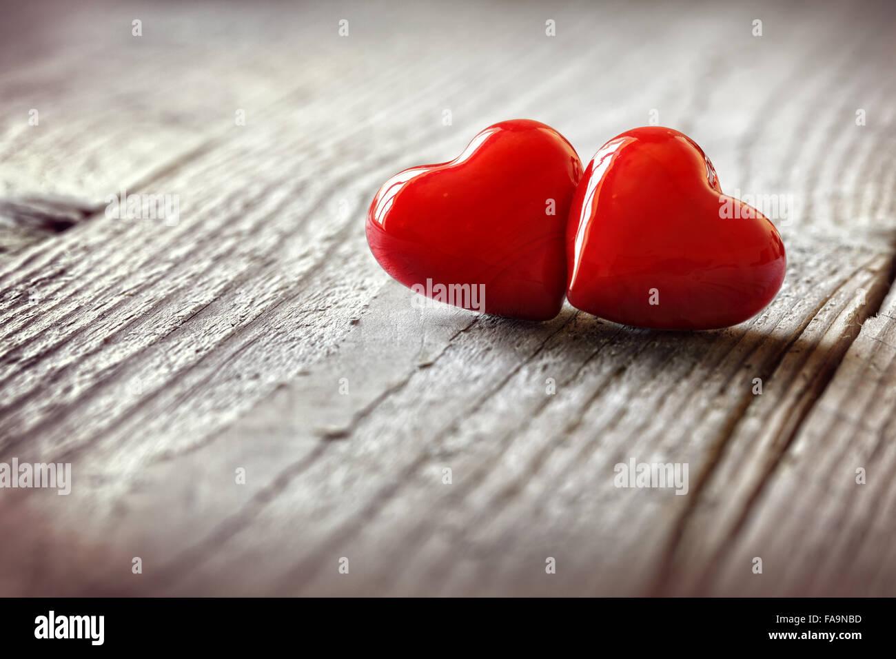 Zwei Herzen in der Liebe Stockbild