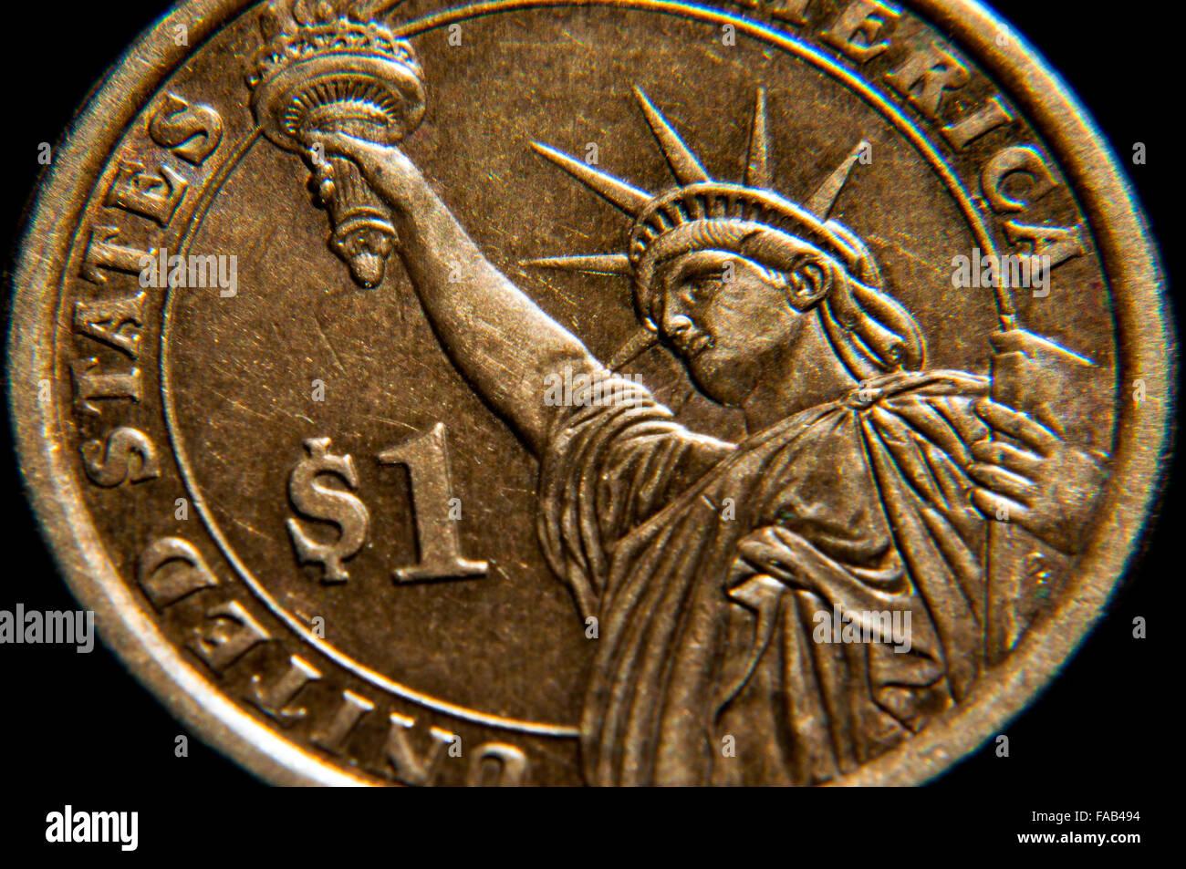 Amerikanischen Ein Dollar Andrew Jackson Tribut Münze Mit Der