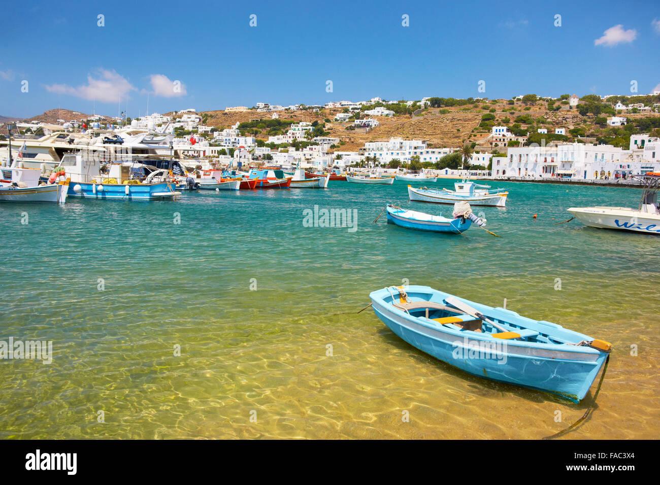 Mykonos - Kykladen, Griechenland Stockbild