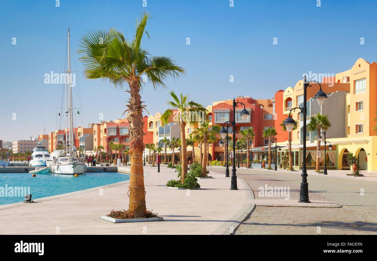 Ägypten - Hurghada Stadt, Marina Stockbild
