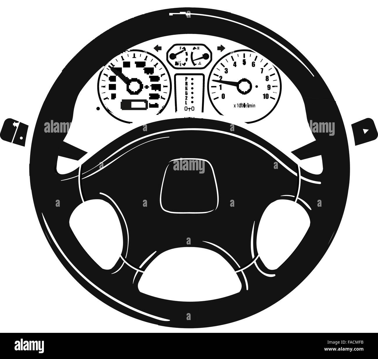 Auto Lenkrad Vektor-Logo Design-Vorlage. Fahrzeug, Auto oder Auto ...