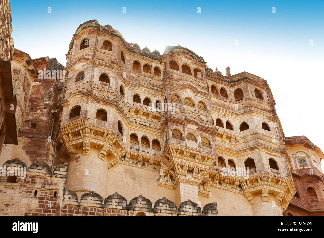 Mehrangarh Fort, Jodhpur, Rajasthan, Indien Stockbild