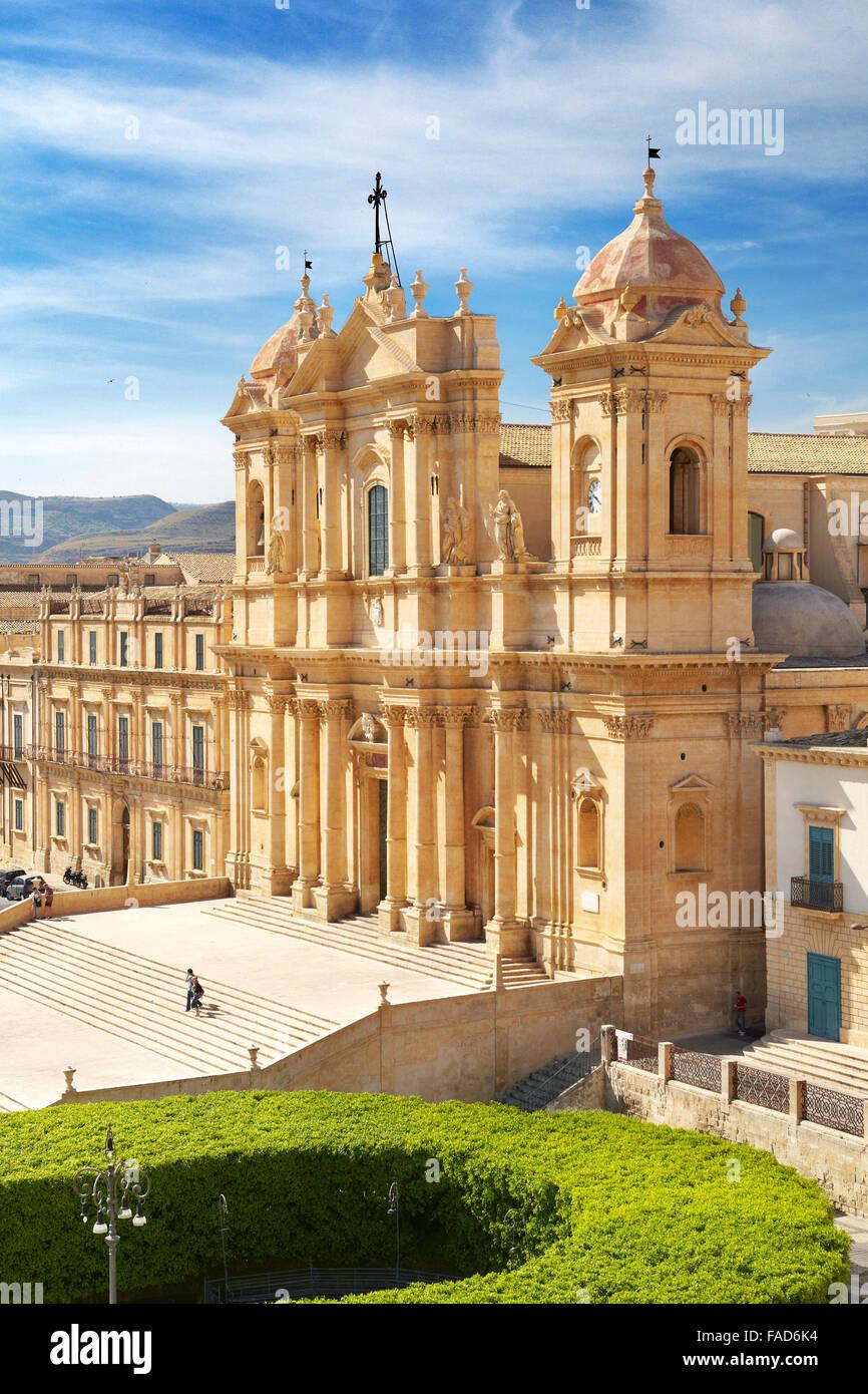 Noto - barocke Kathedrale von San Nicolo, Noto, Sizilien, Italien UNESCO Stockbild