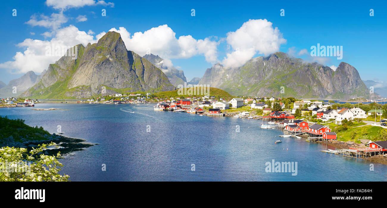 Lofoten-Inseln, Reine, Moskenes, Norwegen Stockbild