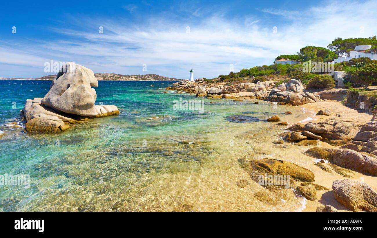 Insel Sardinien - Palau Beach, Costa Smeralda, Italien Stockbild