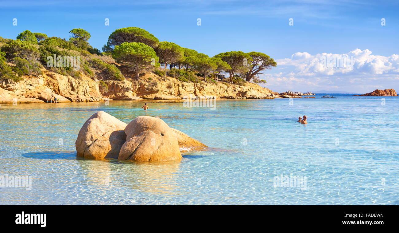Asciaghju Beach, Porto-Vecchio, Korsika, Frankreich Stockbild