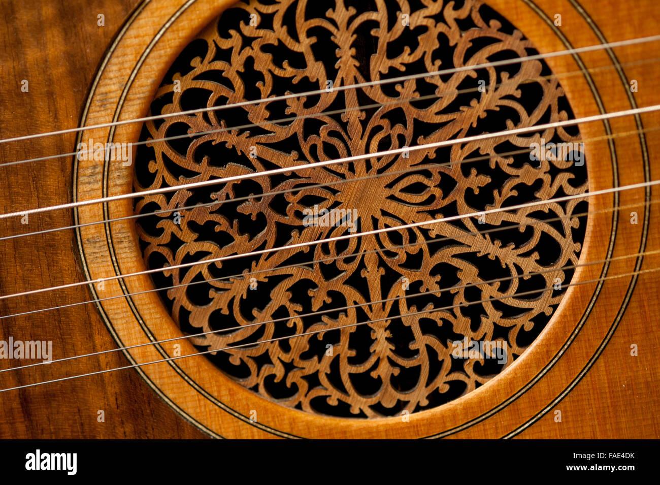 Detail des griechischen laute Stockbild