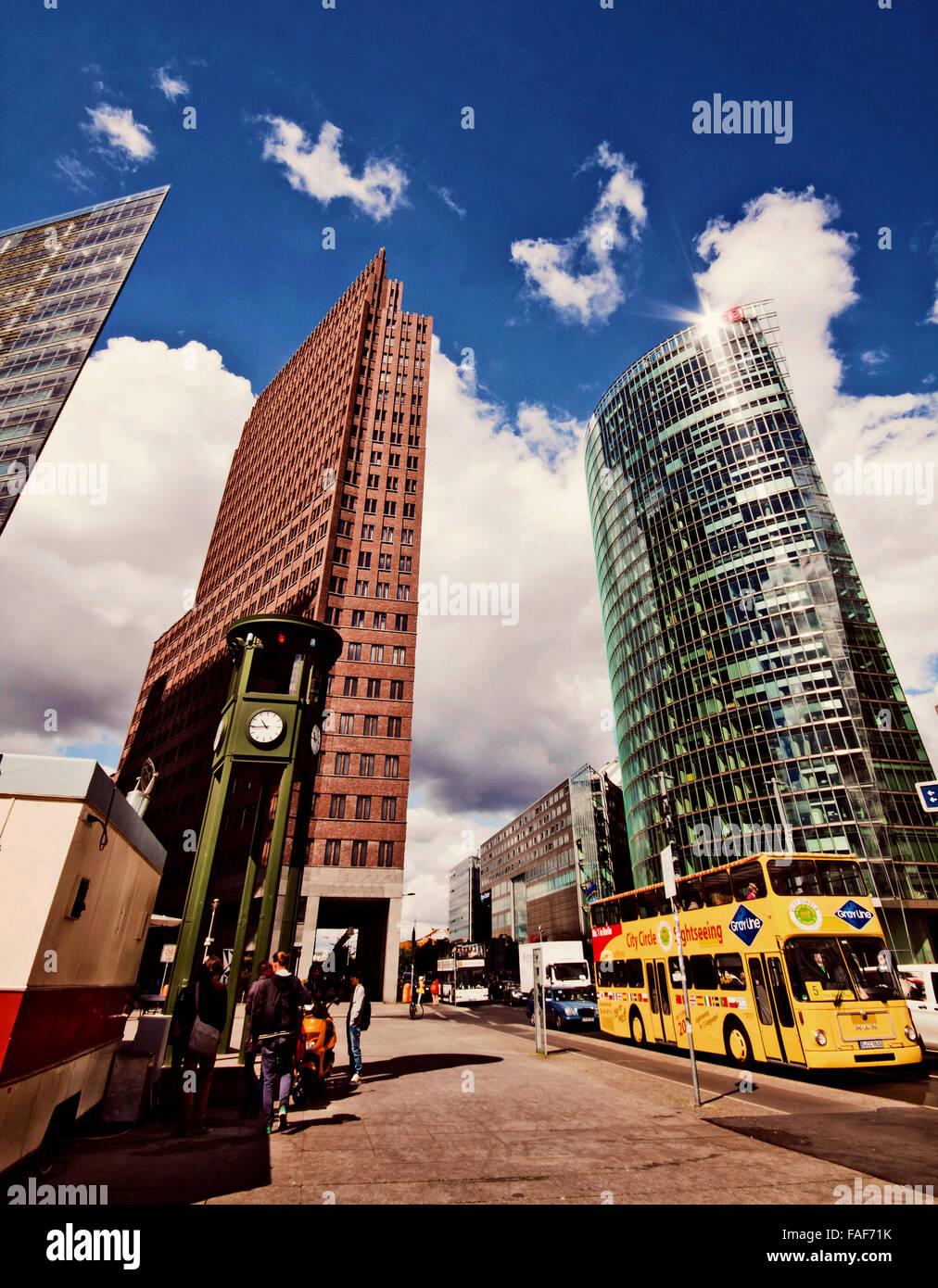 Berlin Deutschland Futuristische Architektur Am Potsdamer Platz