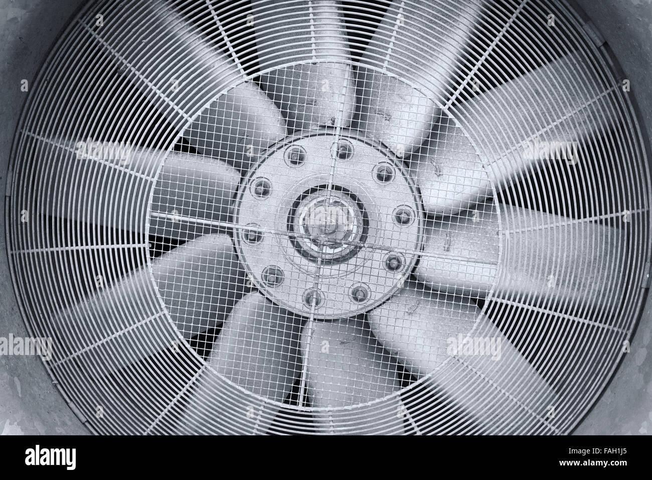Industrielle Trocknungs-Ventilator Nahaufnahme. Stockbild