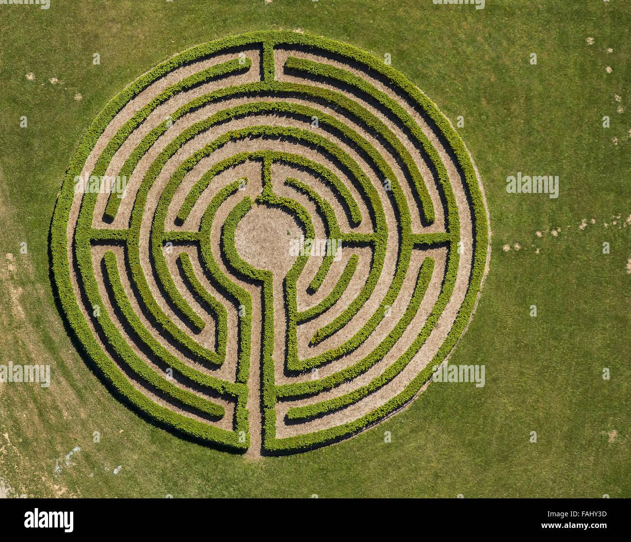 Luftbild labyrinth absicherung irrgarten labyrinth - Irrgarten deutschland ...