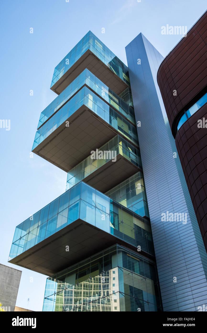 Moderne, zeitgenössische Architektur im Stadtzentrum von Manchester ...