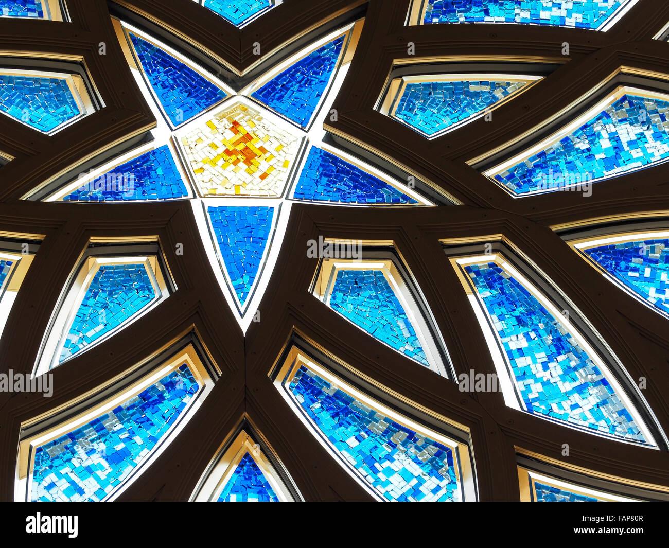 Sheikh-Zayed-Moschee, Abu Dhabi, Vereinigte Arabische Emirate Stockbild