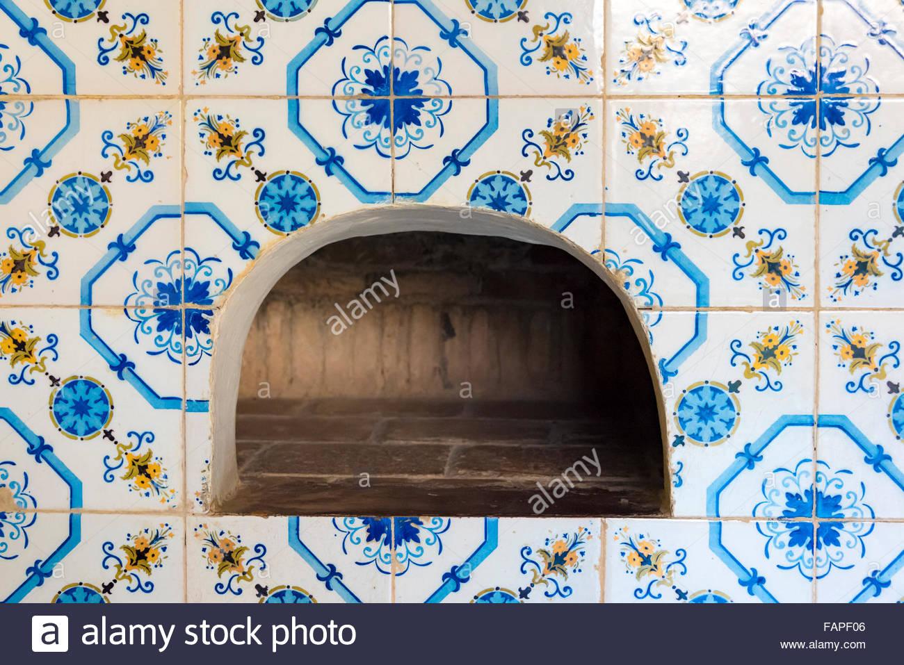 Alten Spanisch kolonialen Küche Details in einem Trinidad de Cuba ...